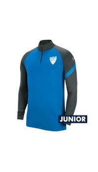 OFFICIAL MALAGA CF PLAYER BLUE TRAINING SWEATSHIRT 2020/21 -JUNIOR-