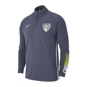 OFFICIAL MALAGA CF PLAYER GRAY TRAINING SWEATSHIRT 2019/20 -ADULT-