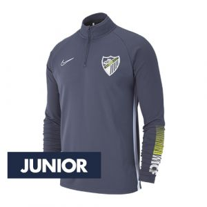 OFFICIAL MALAGA CF PLAYER GRAY TRAINING SWEATSHIRT 2019/20 -JUNIOR-
