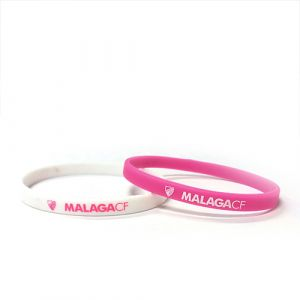 PACK 2 SILICONE BRACETES PINK/WHITE