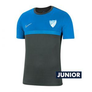 OFFICIAL MALAGA CF PLAYER BLUE TRAINING SHIRT 2020/21 -JUNIOR-
