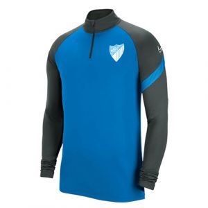 OFFICIAL MALAGA CF PLAYER BLUE TRAINING SWEATSHIRT 2020/21 -ADULT-