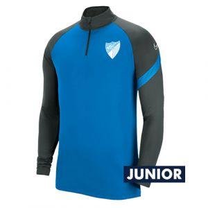OFFICIAL MALAGA CF PLAYER BLUE TRAINING SWEATSHIRT 2020/21 -JUNIOR-