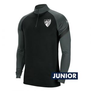 OFFICIAL MALAGA CF PLAYER BLACK TRAINING SWEATSHIRT 2020/21 -JUNIOR